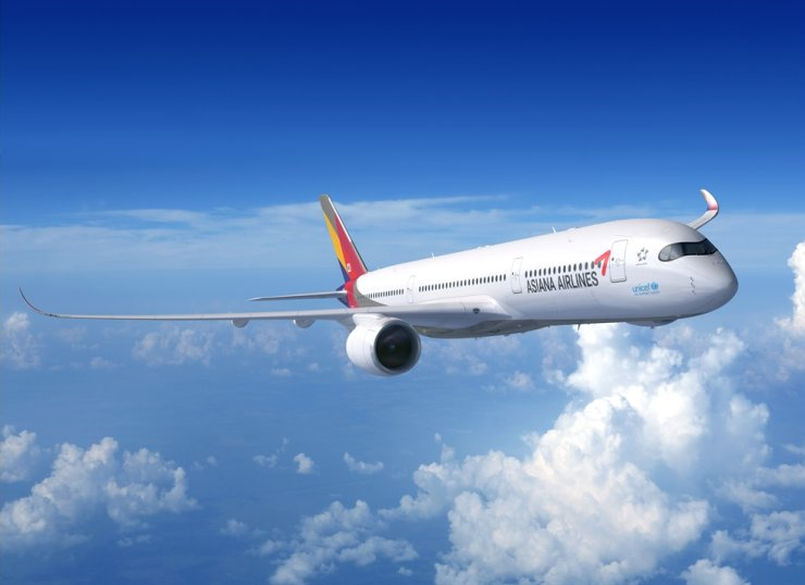 Asiana Airlines' Airbus A350 / Courtesy of Asiana Airlines