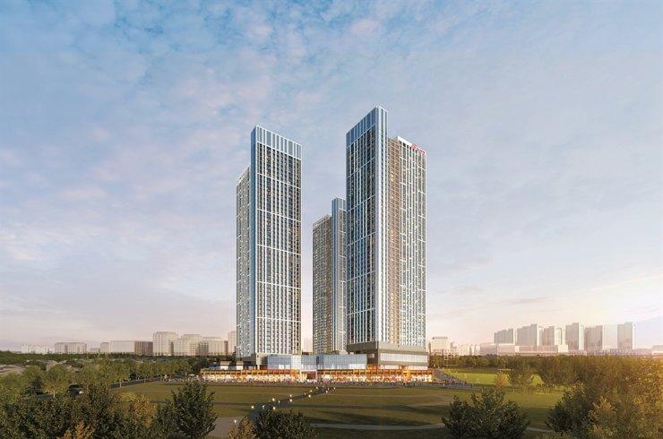Hyundai Hillstate Godeok Sky City / Courtesy of Hyundai E&C