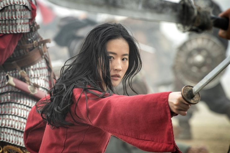 This image released by Disney shows Yifei Liu in the title role of 'Mulan.' Disney via AP