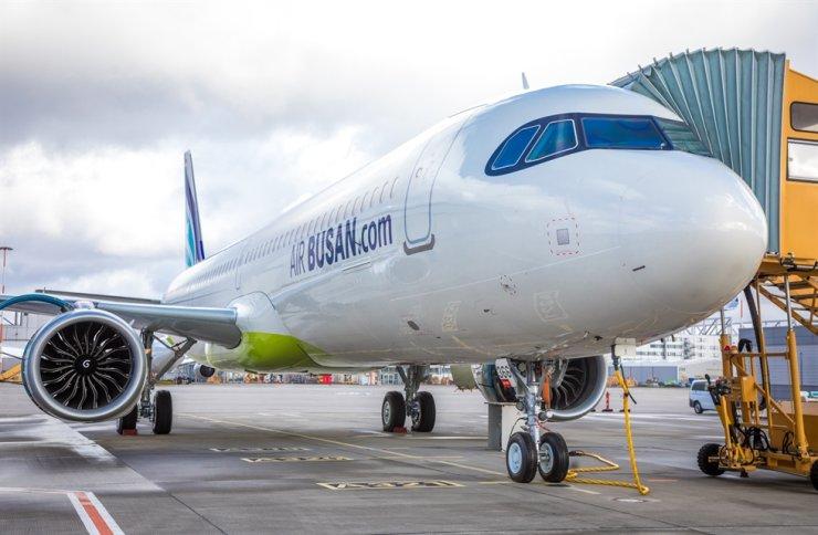 An Air Busan A321LR airliner / Courtesy of Air Busan