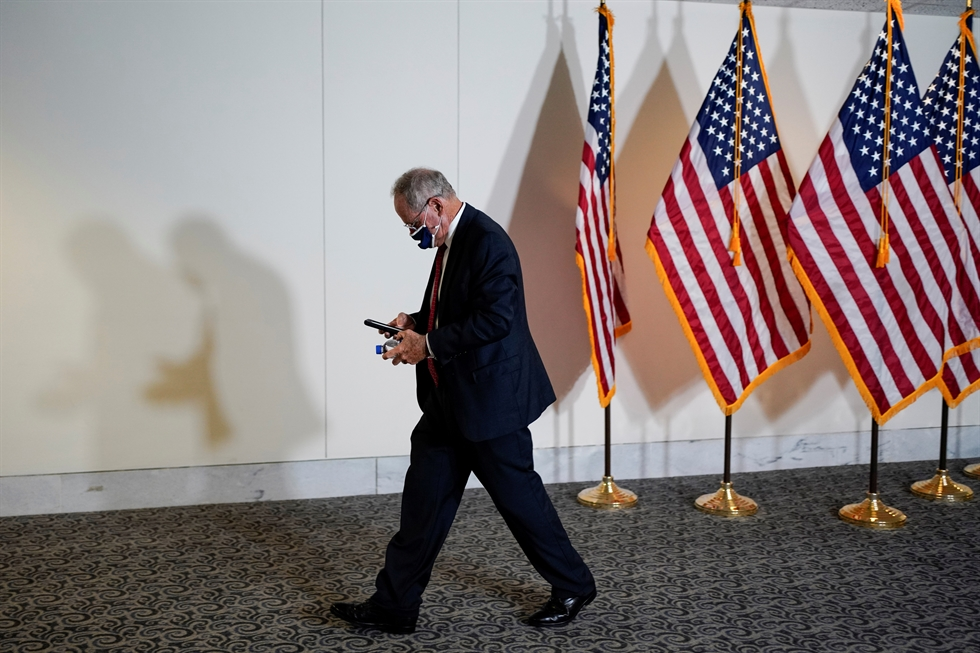 Senator Bob Menendez described the Democrats' legislation as a plan to 'invest' in American competitiveness, alliances and values. REUTERS-Yonhap