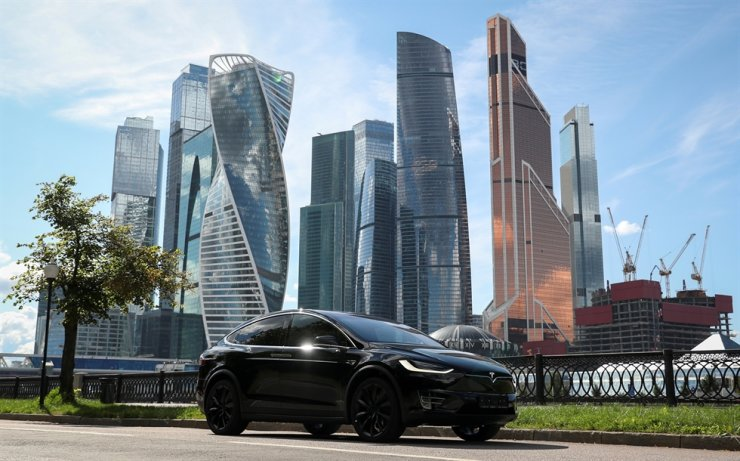 A Tesla Model X electric vehicle is shown in Moscow, Russia. in this July 23 file photo. Reuters-Yonhap