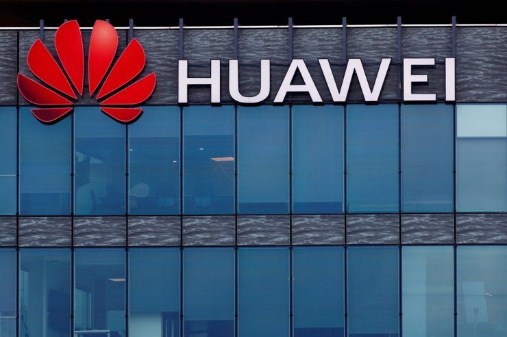 A view shows a Huawei logo at Huawei Technologies France headquarters in Boulogne-Billancourt near Paris, July 15, 2020. Reuters