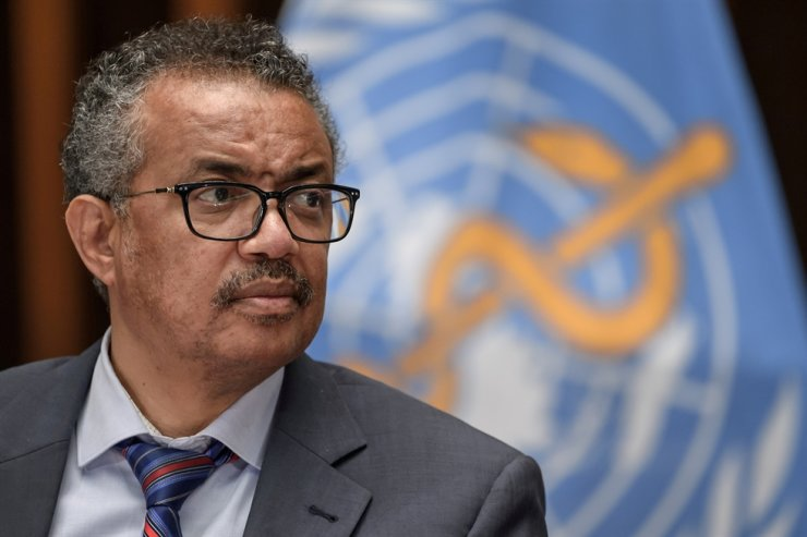 World Health Organization Director-General Tedros Adhanom Ghebreyesus attends a news conference in Geneva, Switzerland, July 3, 2020. Reuters