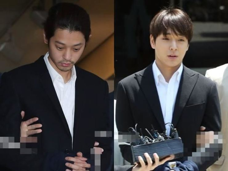 Jung Joon-young, left, and Choi Jong-hoon / Yonhap