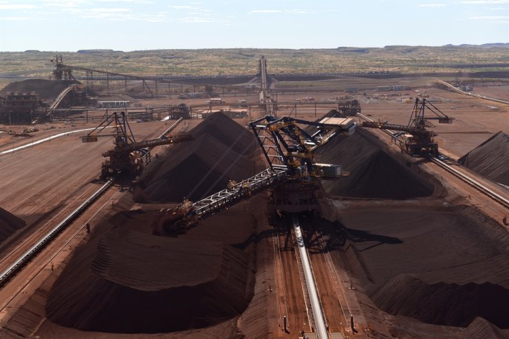 Seen is the Roy Hill iron ore mining field in Australia in which POSCO has a 12.5 percent stake. / Courtesy of POSCO