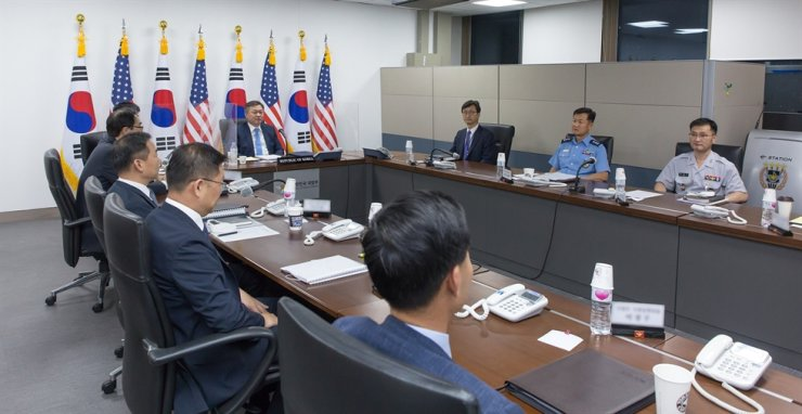 South Korea and the United States continue to move toward the transition of wartime operational control (OPCON) of Korean troops back to Seoul and the issue will be discussed again at their annual defense ministerial meeting, the U.S. Department of Defense said Friday. Courtesy of Ministry of National Defense, Yonhap