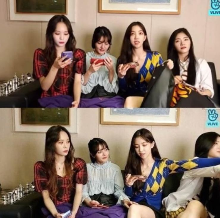Fanatics, a K-pop girl group, appears in a livestream event on VLIVE, Sept. 7. Screen capture from VLIVE
