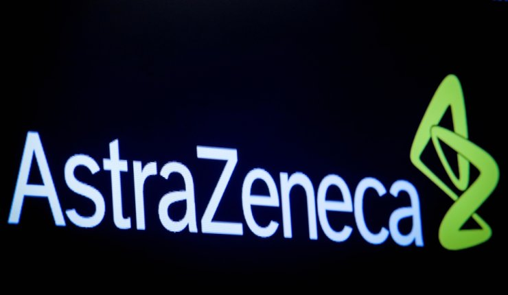 Logo of AstraZeneca is displayed on a screen on the floor at the New York Stock Exchange in New York, U.S., April 8, 2019. Reuters