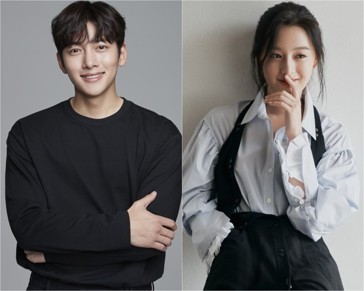 Ji Chang-wook, left, and Kim Ji-won will play the leads in KakaoTV's new web series 'City Couple's Way of Love.' Courtesy of Glorious Entertainment and SALT Entertainment