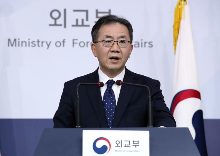 Foreign ministry spokesperson Kim In-chul / Yonhap