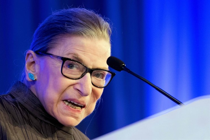 U.S. Supreme Court Justice Ruth Bader Ginsburg speaks after receiving the American Law Institute's Henry J. Friendly Medal in Washington, DC in this file photo taken May 21, 2018. Ginsburg died Friday at her home in Washington, the court said. She was 87. AFP