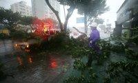 Jeju hit by typhoon