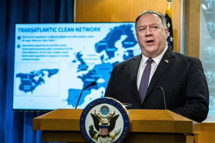 Secretary of State Mike Pompeo speaks during a news conference at the State Department, Wednesday, Oct. 14, 2020, in Washington. AP-Yonhap