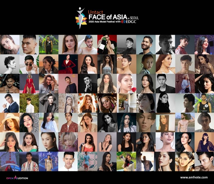More than 70 contenders from 24 Asian countries are participating in the FACE of Asia 2020 in Seoul. Courtesy of AMFOC