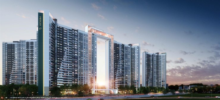 An architectural rendering of the reconstruction project Daewoo E&C will carry out in Changwon, South Gyeongsang Province. / Courtesy of Daewoo E&C
