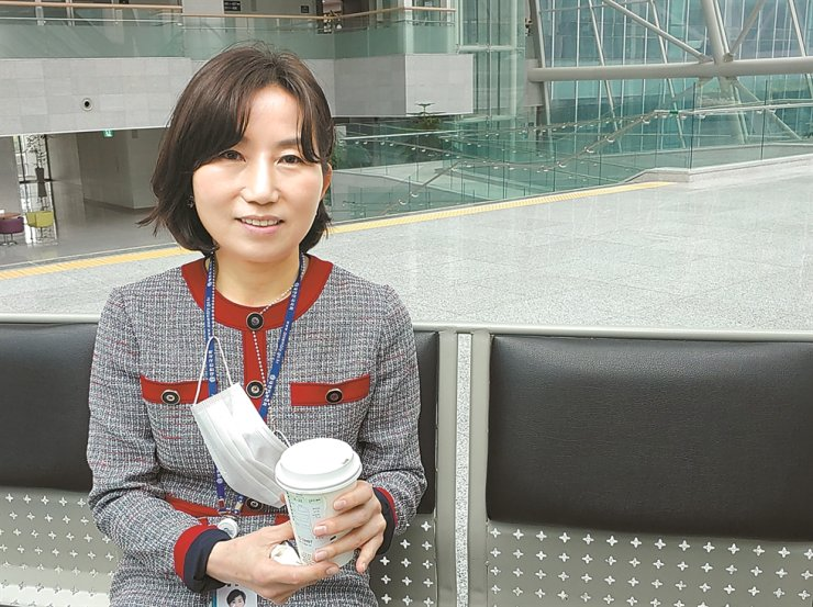 An Hye-jin, spokeswoman of the minor opposition People's Party, speaks during a recent interview with The Korea Times at the National Assembly in Seoul. / Korea Times photo by Jung Da-min