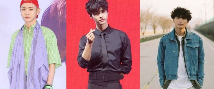 From left are SHINee's Key, VIXX's N and 2AM's Jinwoon. Courtesy of Mystic Story, Yonhap