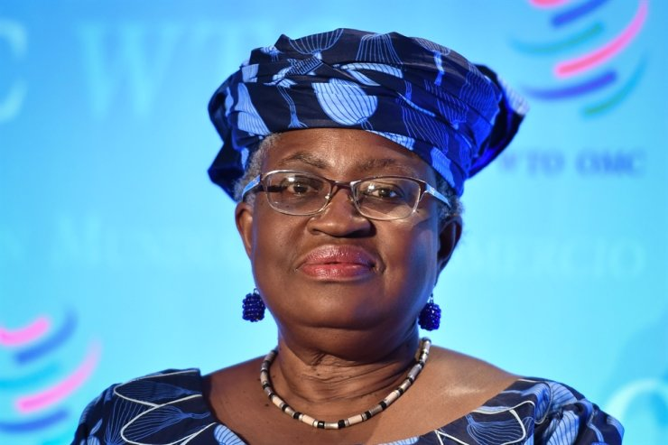 Nigerian former Foreign and Finance Minister Ngozi Okonjo-Iweala attends a press conference July 15, 2020, in Geneva, following her hearing before World Trade Organization (WTO) member states' representatives, as part of the application process to head the WTO as Director General. AFP