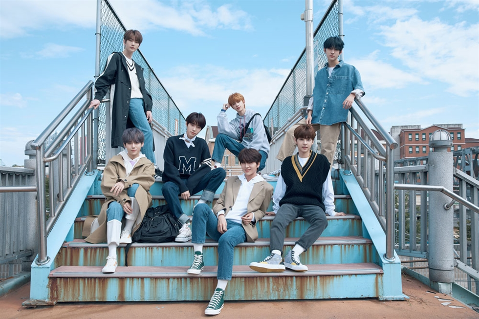 Rookie K-pop boy band DRIPPIN released its debut album 'Boyager' Wednesday. Courtesy of Woollim Entertainment