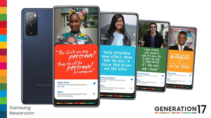 Poster of Samsung and UNDP's the Generation17 project. / Courtesy of Samsung Electronics