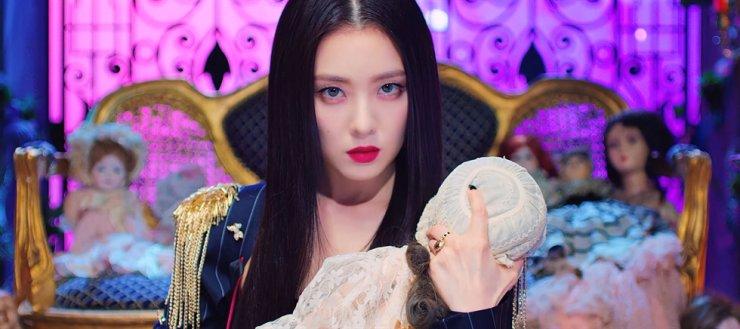 Red Velvet's Irene from 'Monster' music video. Screen capture from YouTube