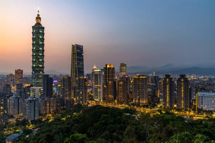 Seen is Taipei's skyline at twilight. / Gettyimagesbank