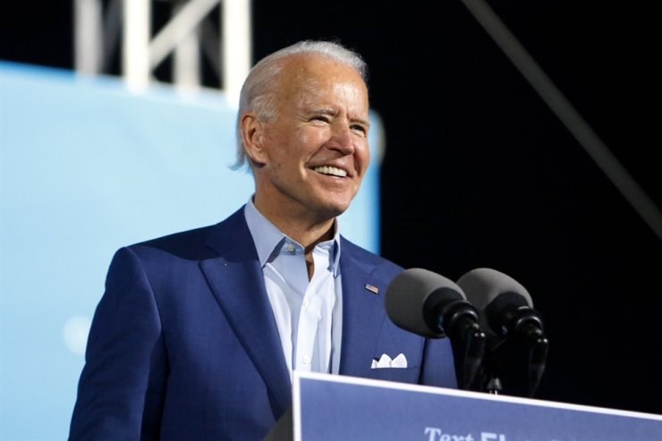 Democratic presidential candidate and former Vice President Joe Biden speaks to a crowd of supporters during a drive-in rally at the Florida State Fairgrounds, Thursday, Oct. 29, 2020 in Tampa, Fla. AP