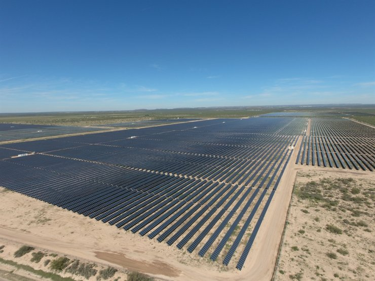 Hanwha Solution's U.S. solar power station in Pecos County, Texas, where the company supplied 680,000 solar modules. / Courtesy of Hanwha Solution