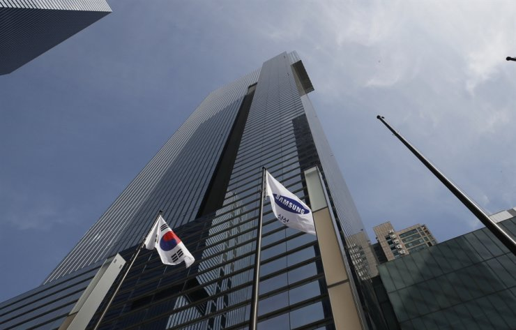 Samsung Electronics' building is seen in southern Seoul, Sunday, Oct. 25, 2020. Lee Kun-Hee, the ailing Samsung Electronics chairman who transformed the small television maker into a global giant of consumer electronics, has died, a Samsung statement said Sunday. He was 78. AP