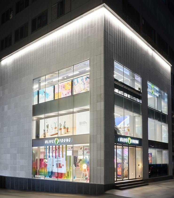 Olive Young's store in Gangnam / Courtesy of CJ Group
