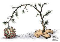 COVID Christmas tree