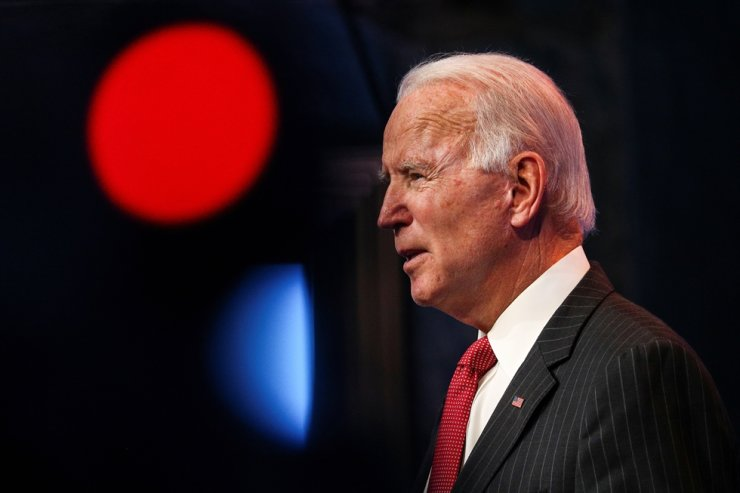 U.S. President-elect Joe Biden speaks to reporters following an online meeting with members of the National Governors Association executive committee in Wilmington, Delaware, Nov. 19. Reuters