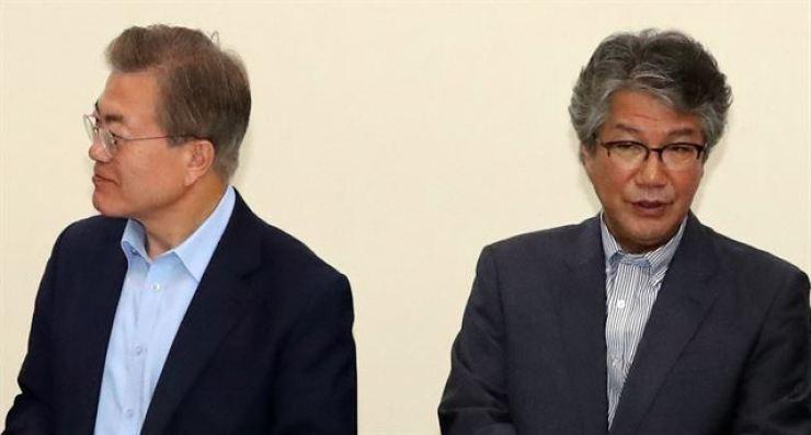 President Moon Jae-in and Kim Ki-jung / Korea Times file
