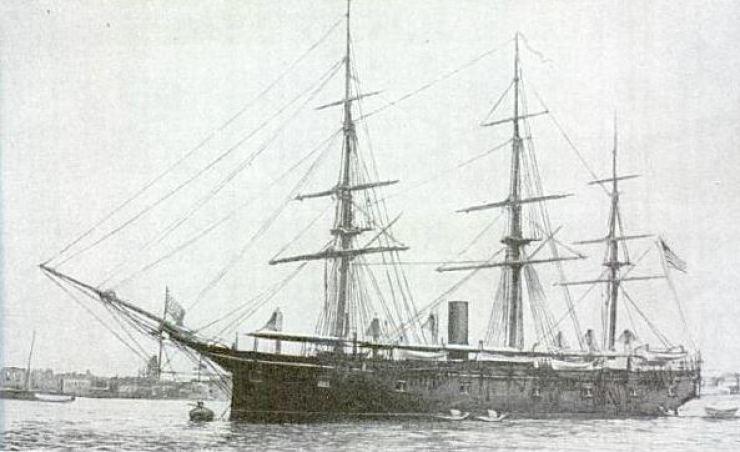 The U.S.S. Trenton in the mid-1880s / Public domain/Wikipedia