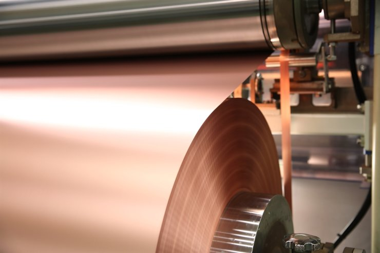 A roll of copper foil produced by SK Nexilis. / Courtesy of SK Nexilis