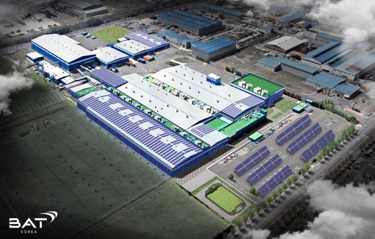 An overview of solar power generation facility at BAT Korea's Sacheon Factory in South Gyeongsang Province / Courtesy of BAT Korea
