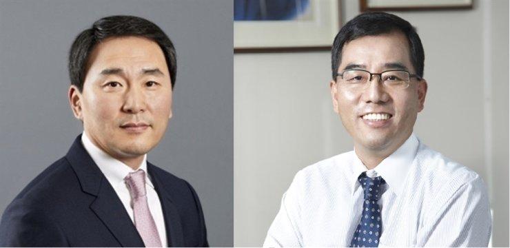 Daesang CEO Lim Jung-bae, left, and CJ CheilJedang CEO Kang Sin-ho / Korea times file