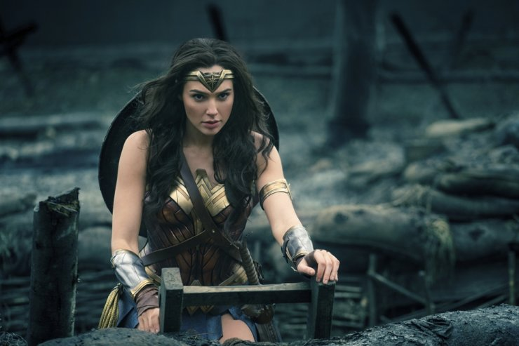 This image released by Warner Bros. Entertainment shows Gal Gadot in a scene from 'Wonder Woman.' AP