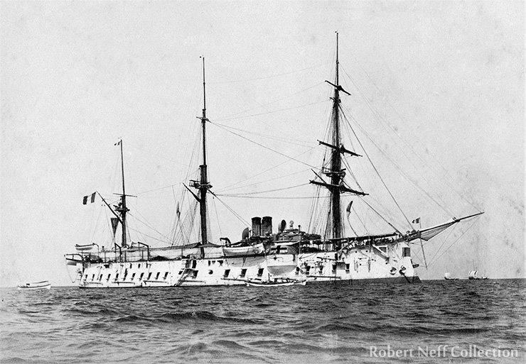 The French warship Bayard in Japan, circa 1895. Robert Neff Collection