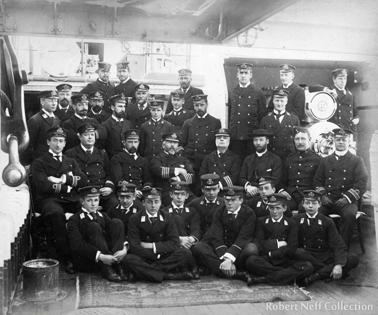 The crew of HMS Edgar, circa 1895. Robert Neff Collection