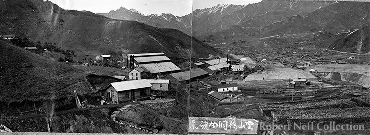 The area surrounding Taracol mining camp ― one of the main mines of the OCMC. Most of the Korean miners lived in the large village nearby while the Western employees were housed ― in the beginning ― company dorms and later in homes they built themselves. Circa 1913. Robert Neff Collection (courtesy of the Heppner family)