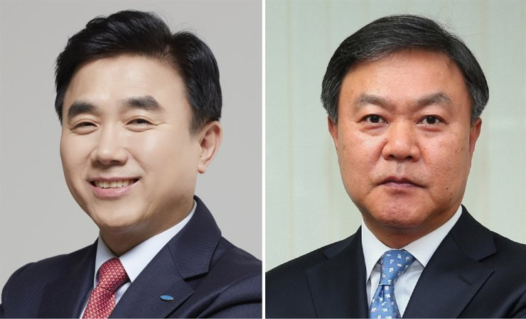 Samsung Life Insurance CEO Jeon Young-muk, left, and Samsung Fire & Marine Insurance CEO Choi Young-moo / Courtesy of each company