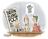 Biden injures foot