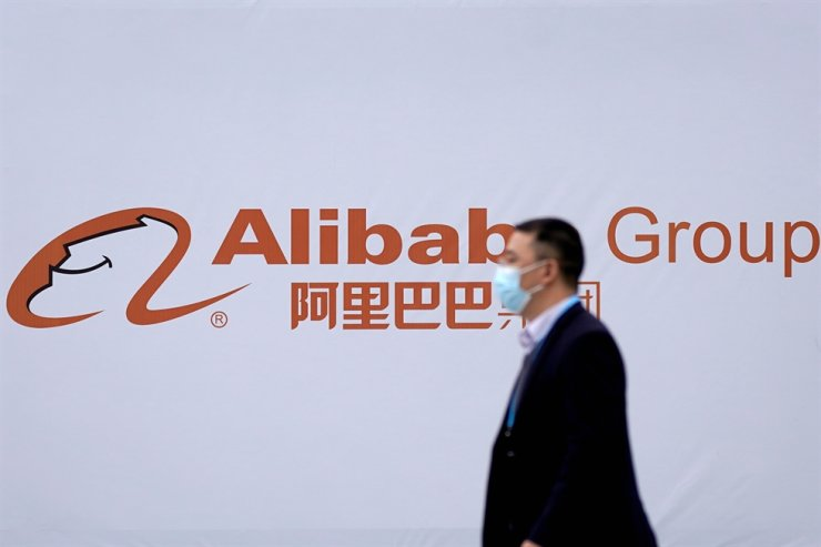 A logo of Alibaba Group is seen during the World Internet Conference (WIC) in Wuzhen, Zhejiang province, China, in this Nov. 23 file photo. / Reuters-Yonhap