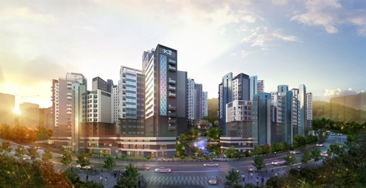 An artist's impression of an apartment complex that GS Engineering & Construction is building in Heukseok-dong, Seoul / Courtesy of GS E&C