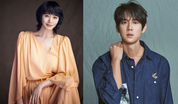 Kim Hye-soo, left, and Yoo Yeon-seok will host the 41st Blue Dragon Film Awards ceremony, which will take place at Paradise City Incheon, Dec. 11. / Korea Times file