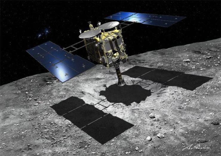 Hayabusa 2 spacecraft. Courtesy of Japan Aerospace Exploration Agency