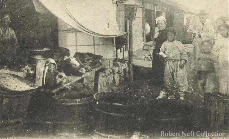 A Korean ox and cart. Circa 1900s.  Robert Neff Collection