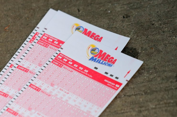 Mega Millions lottery entry tickets are seen in New York City, U.S., Oct. 23, 2018. Reuters